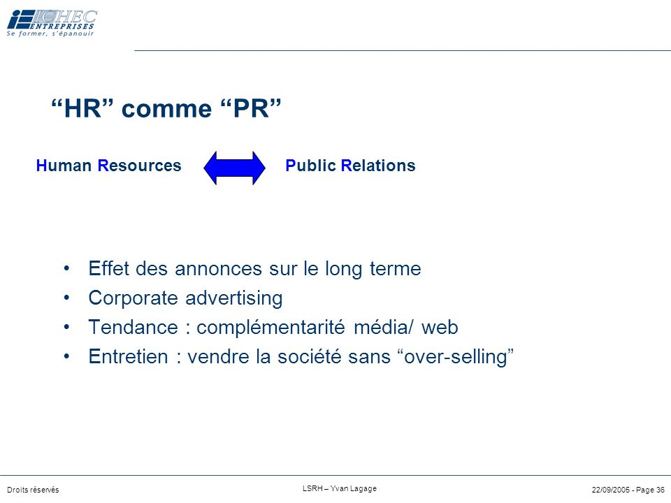 HR comme PR Human Resources Public Relations