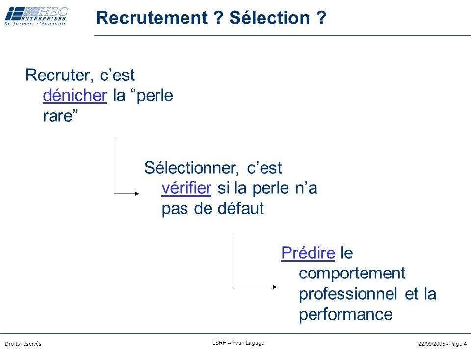 Recrutement Sélection