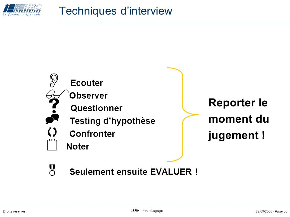 Techniques d'interview