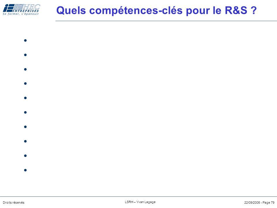 Quels compétences-clés pour le R&S