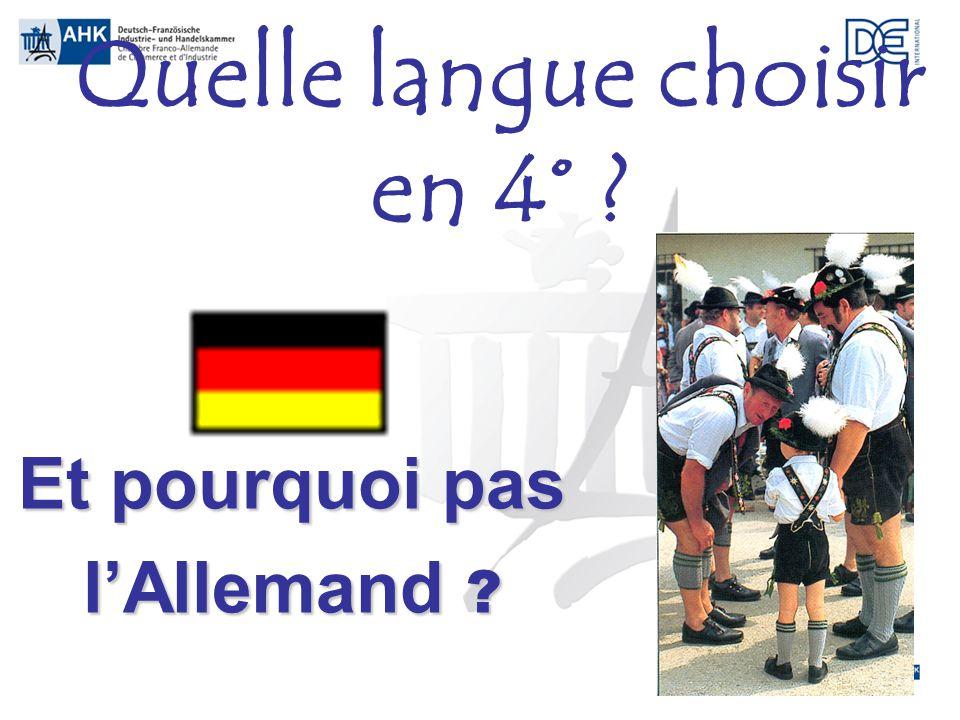 Quelle langue choisir en 4°