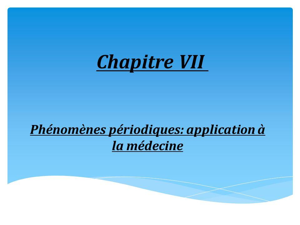 Phénomènes périodiques: application à la médecine