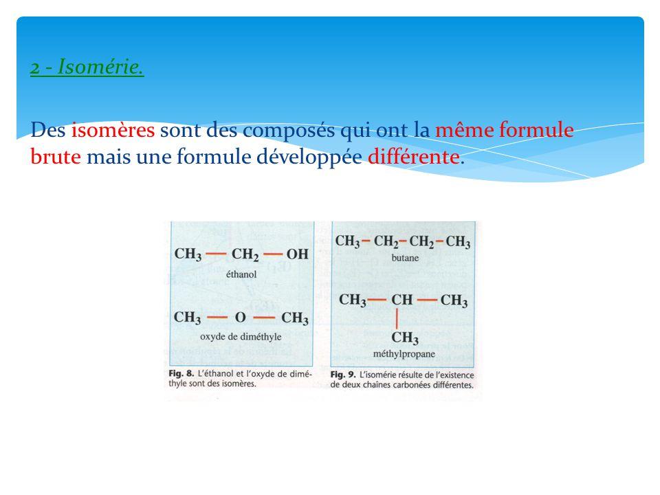 2 - Isomérie.