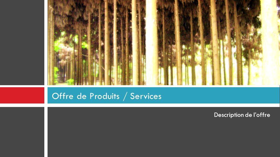 Offre de Produits / Services