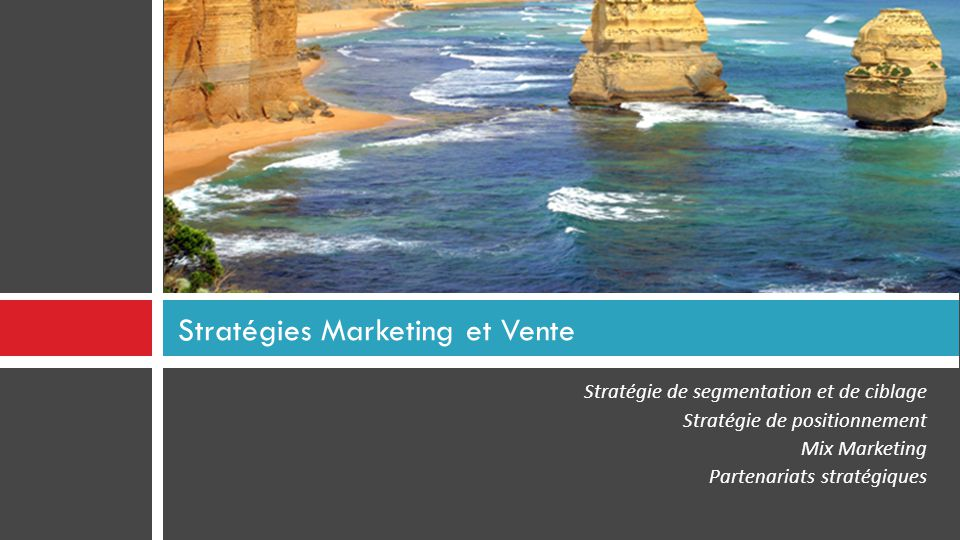Stratégies Marketing et Vente