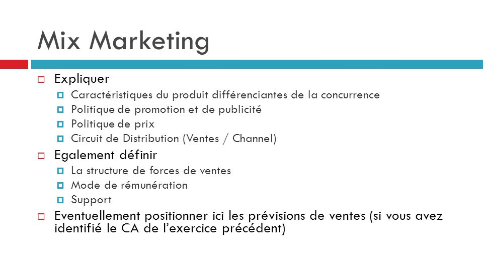 Mix Marketing Expliquer Egalement définir