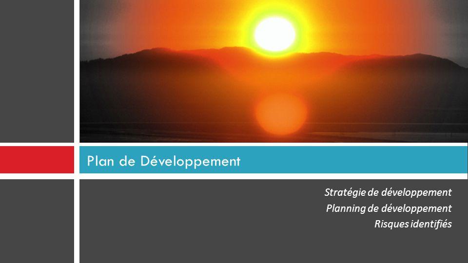 Plan de Développement Stratégie de développement