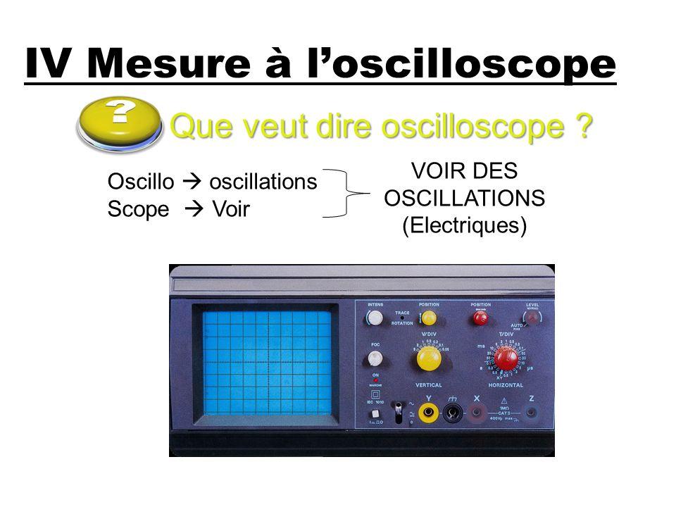 IV Mesure à l'oscilloscope