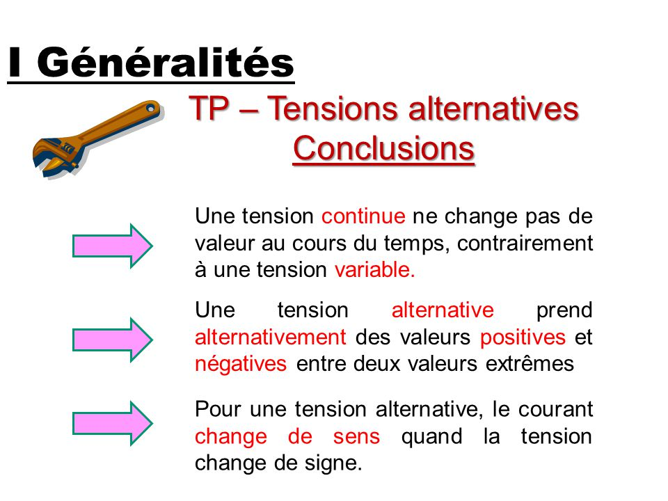 TP – Tensions alternatives