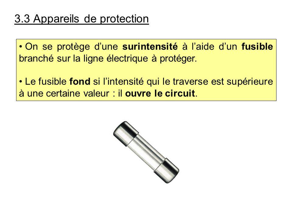 3.3 Appareils de protection