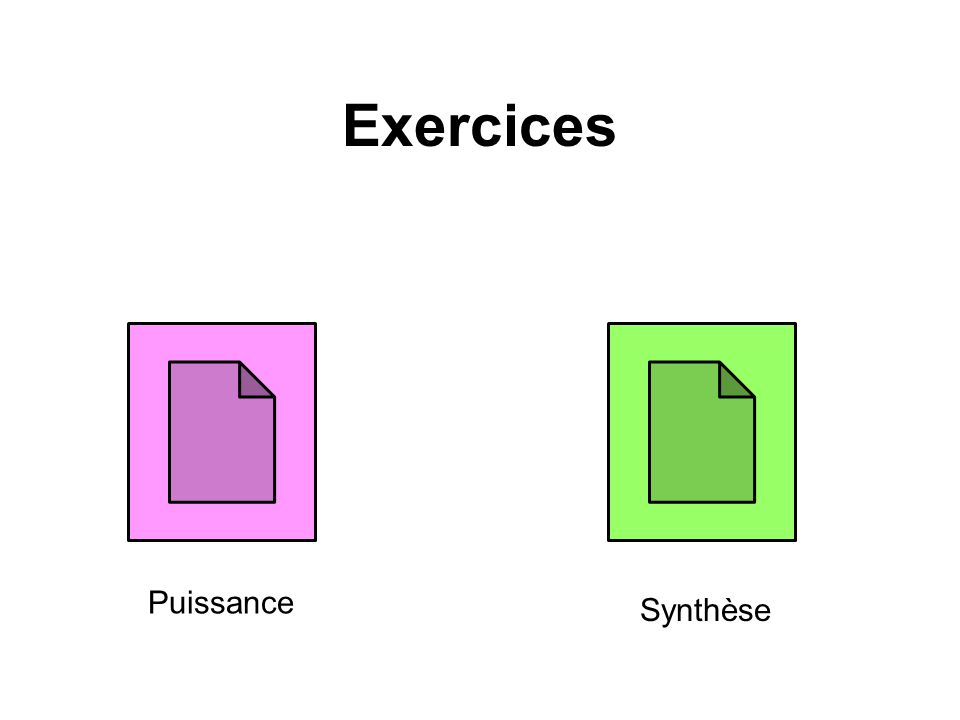 Exercices Puissance Synthèse