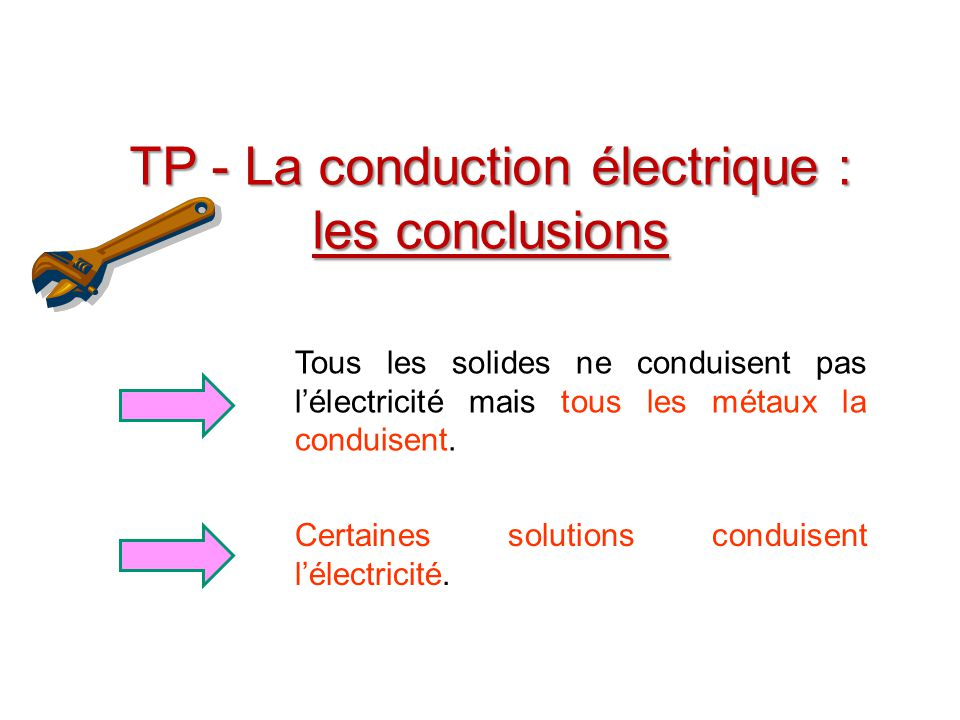 Conclusion du TP conduction électrique