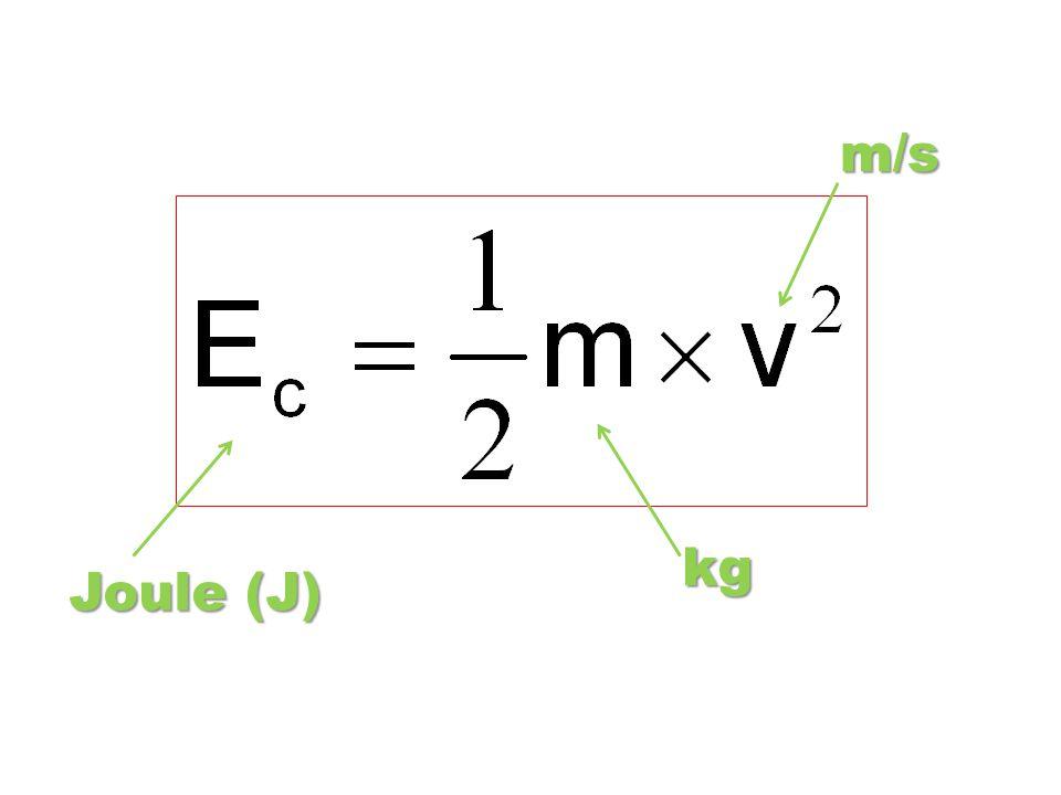 Joule (J) kg m/s