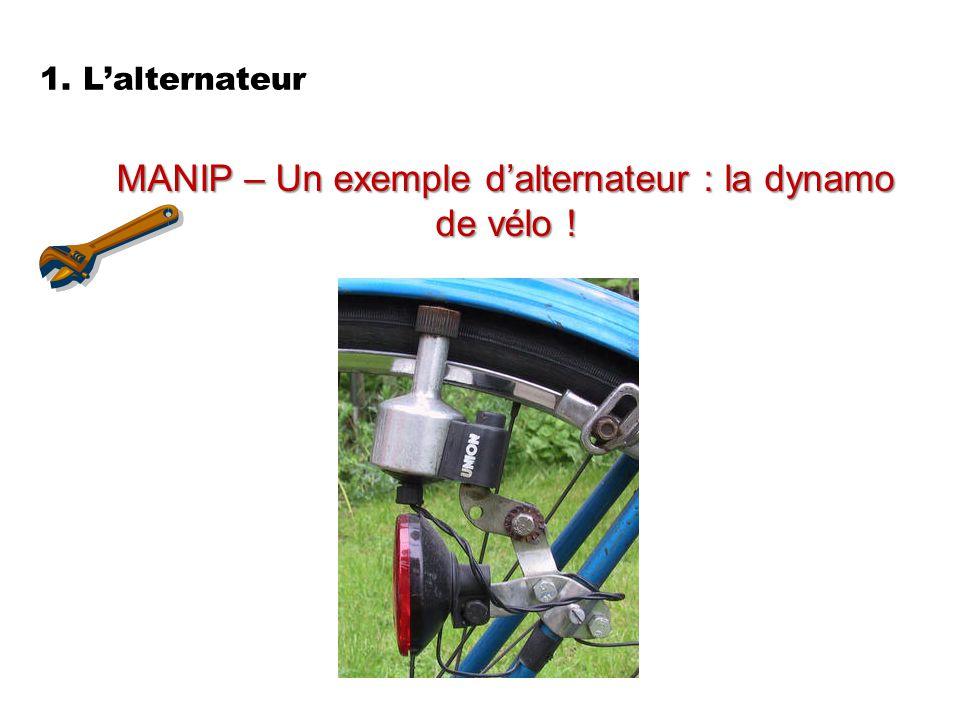 MANIP – Un exemple d'alternateur : la dynamo de vélo !
