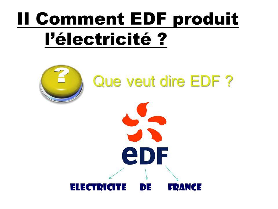 II Comment EDF produit l'électricité