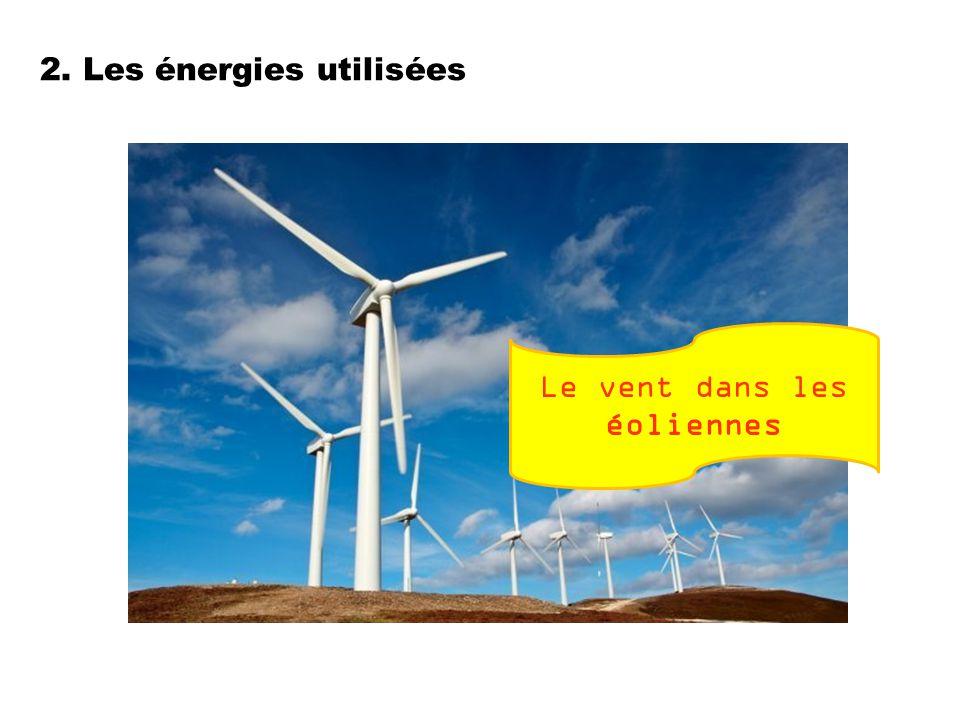 2. Les énergies utilisées