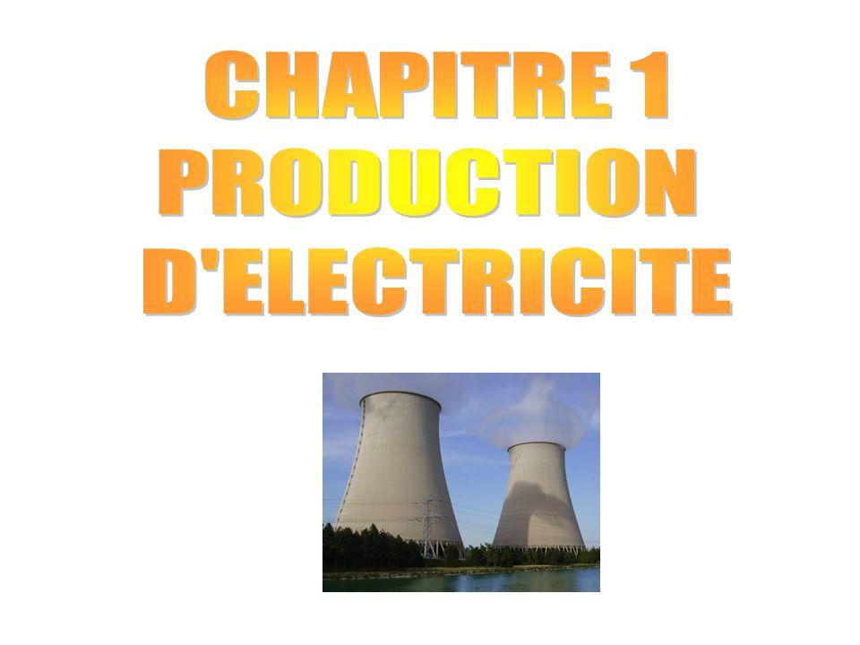 CHAPITRE 1 : LA PRODUCTION D'ELECTRICITE