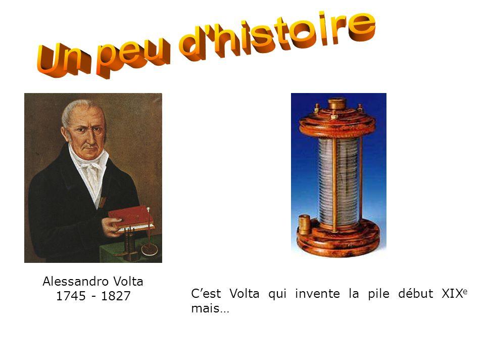 Histoire de la pile 1 Un peu d histoire Alessandro Volta 1745 - 1827