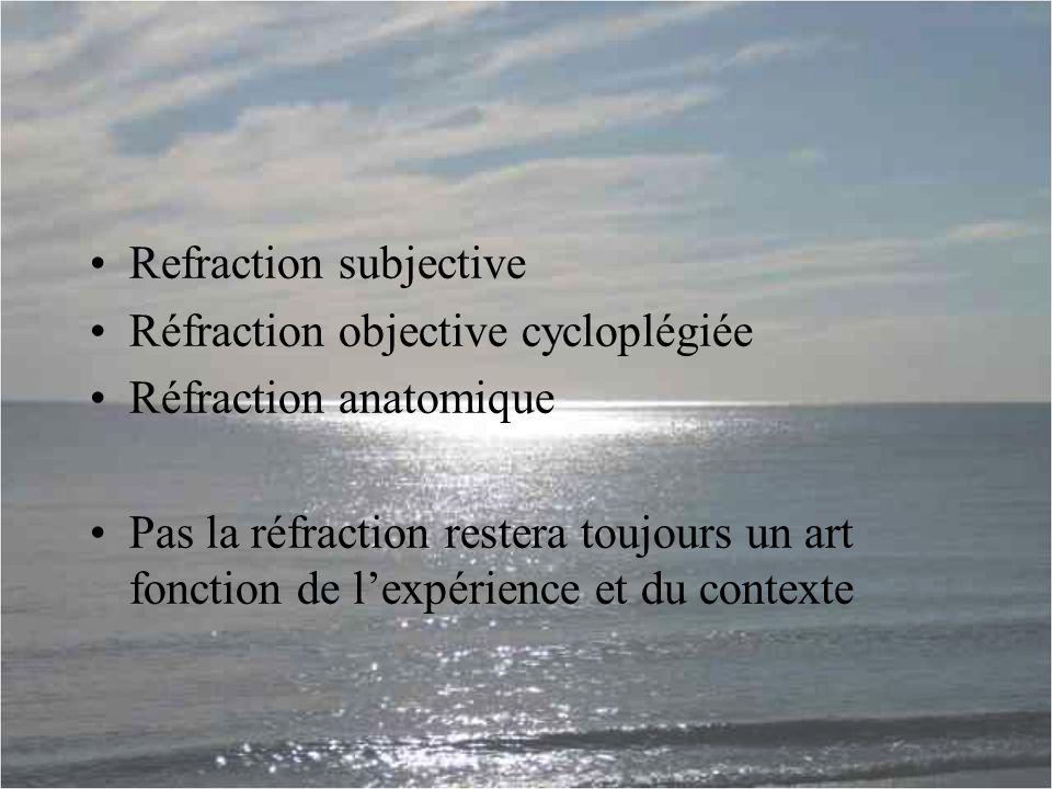 Refraction subjective