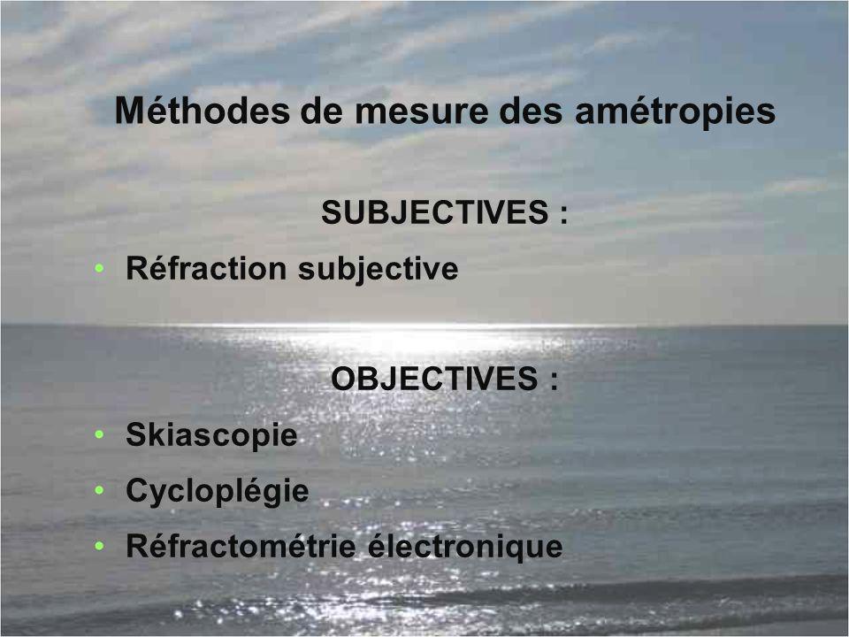 Méthodes de mesure des amétropies