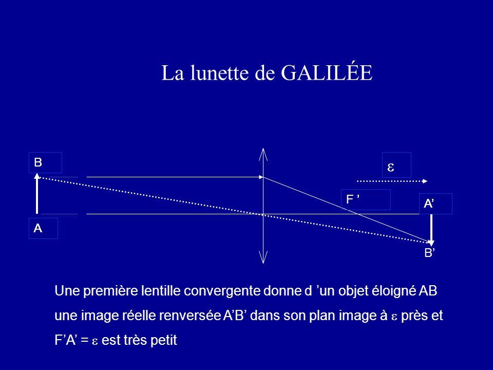 La lunette de GALILÉE e e