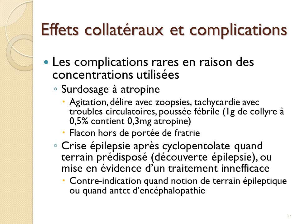 Effets collatéraux et complications