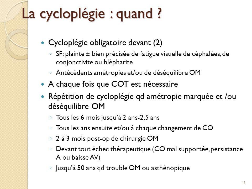 La cycloplégie : quand Cycloplégie obligatoire devant (2)
