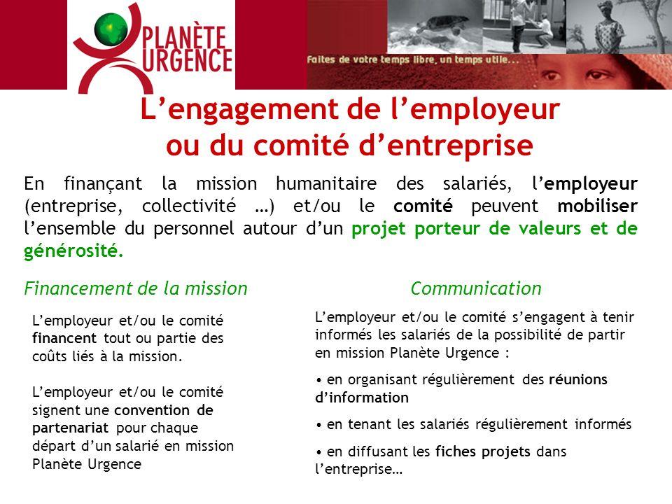L'engagement de l'employeur ou du comité d'entreprise