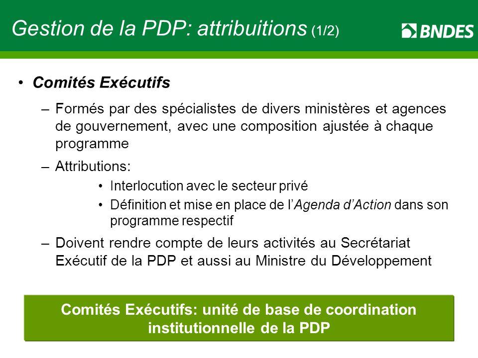 Gestion de la PDP: attribuitions (1/2)