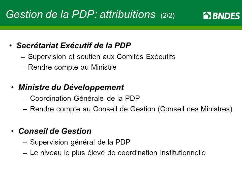 Gestion de la PDP: attribuitions (2/2)