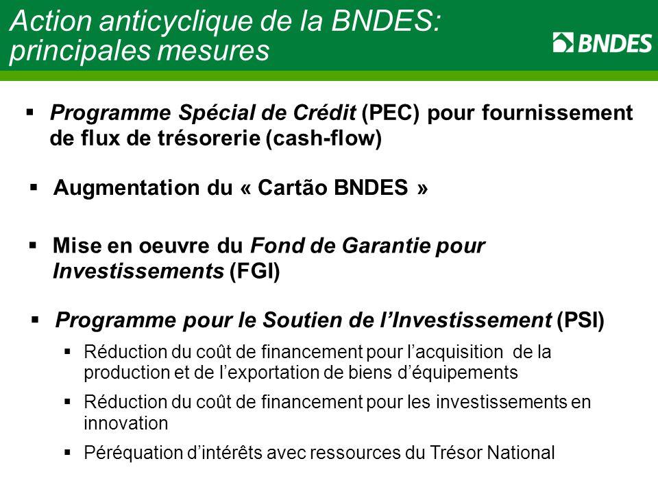 Action anticyclique de la BNDES: principales mesures