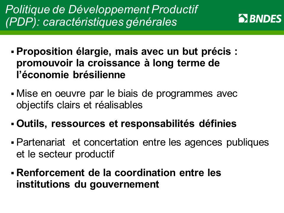Politique de Développement Productif (PDP): caractéristiques générales