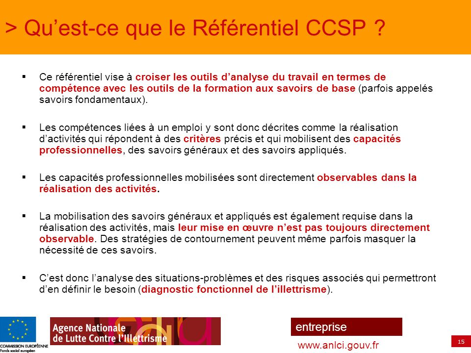 > Qu'est-ce que le Référentiel CCSP