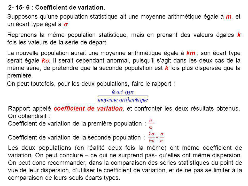 2- 15- 6 : Coefficient de variation.