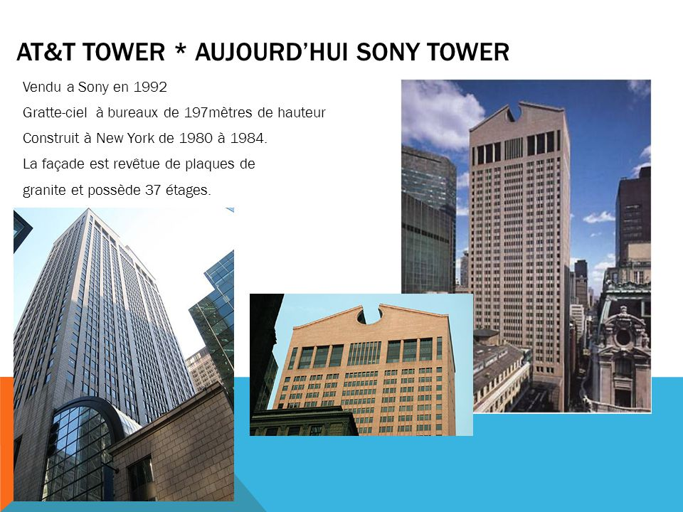 At&t tower * aujourd'hui sony tower