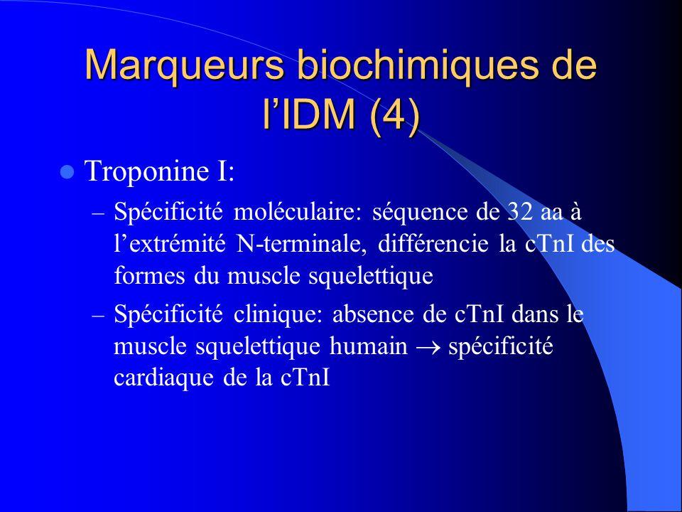 Marqueurs biochimiques de l'IDM (4)