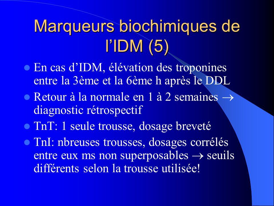 Marqueurs biochimiques de l'IDM (5)