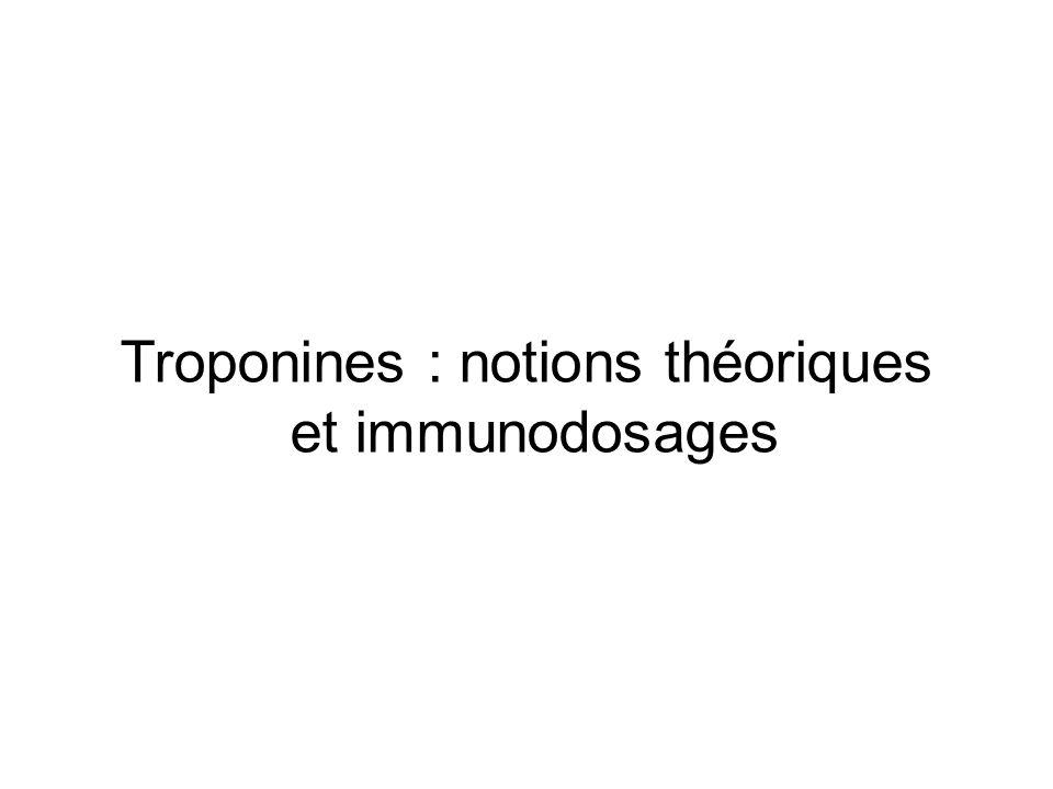Troponines : notions théoriques