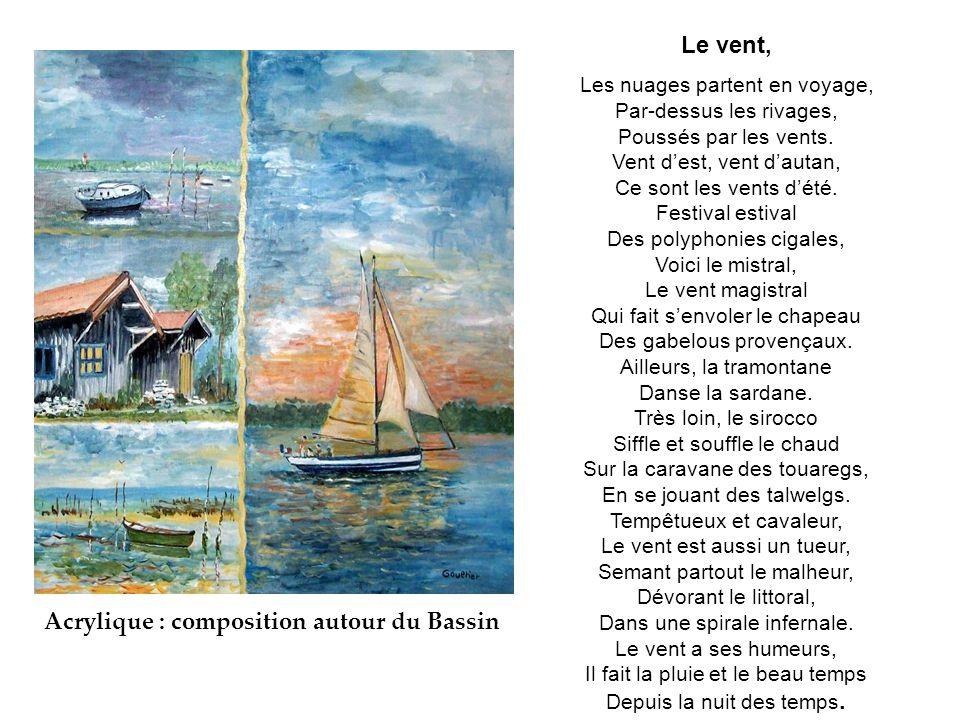 Acrylique : composition autour du Bassin