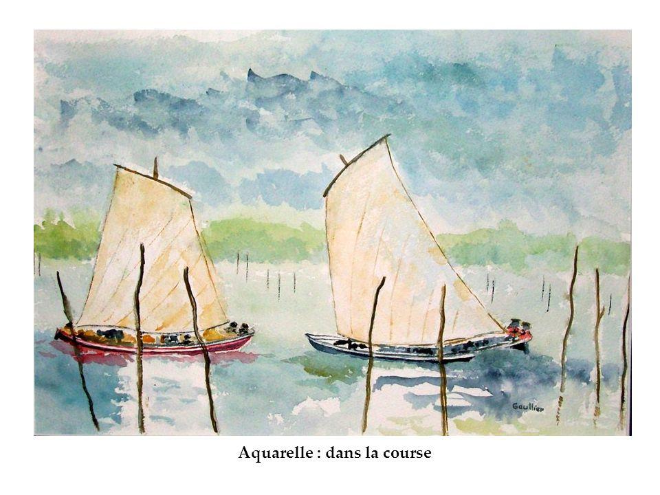 Aquarelle : dans la course