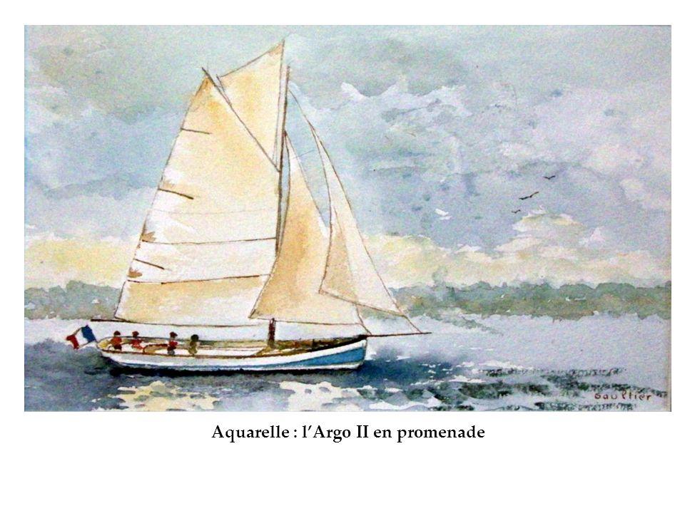 Aquarelle : l'Argo II en promenade