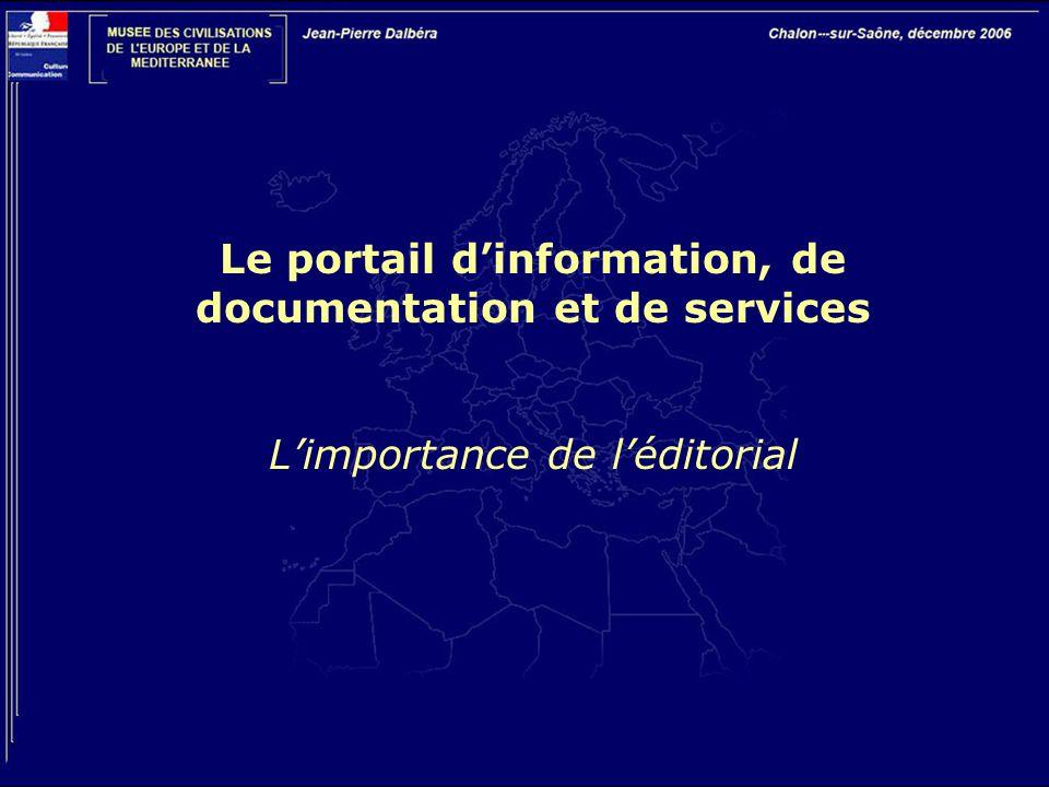 Le portail d'information, de documentation et de services