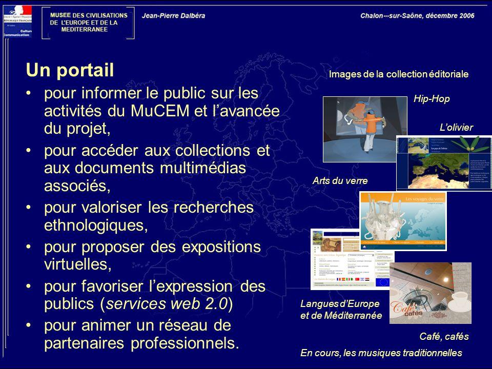Un portail pour informer le public sur les activités du MuCEM et l'avancée du projet,