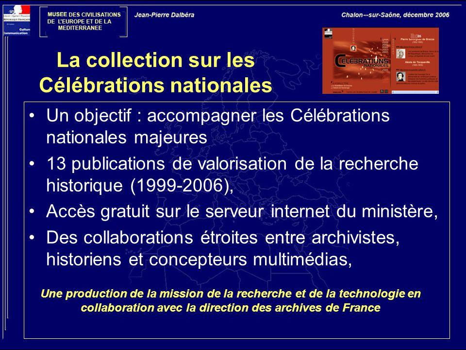 La collection sur les Célébrations nationales