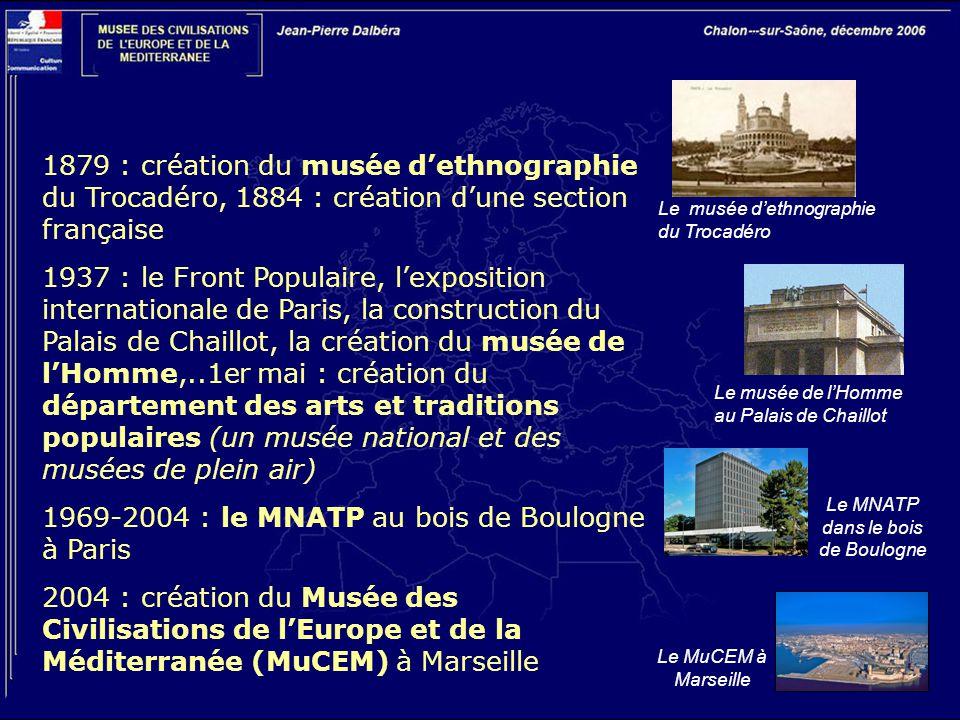 1969-2004 : le MNATP au bois de Boulogne à Paris