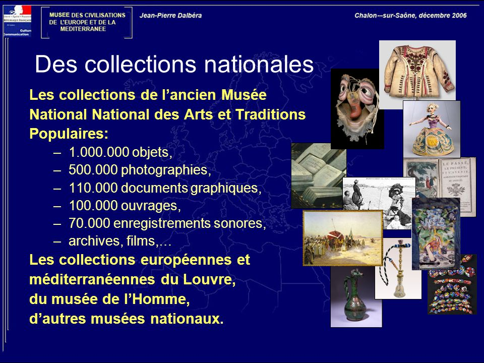 Des collections nationales