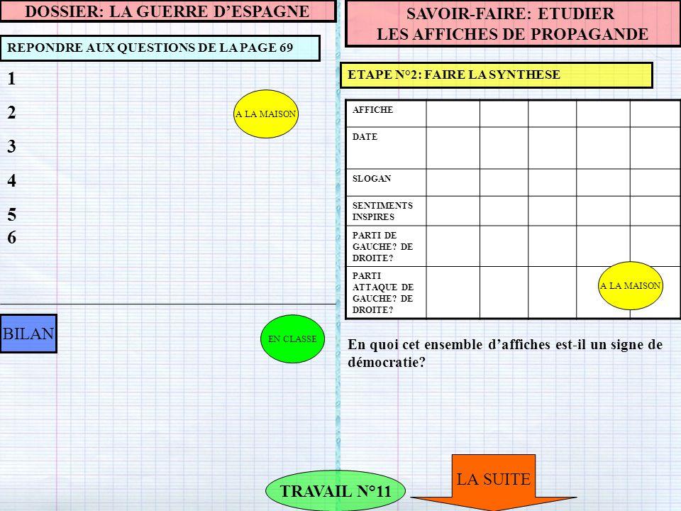 1 2 3 4 56 DOSSIER: LA GUERRE D'ESPAGNE SAVOIR-FAIRE: ETUDIER