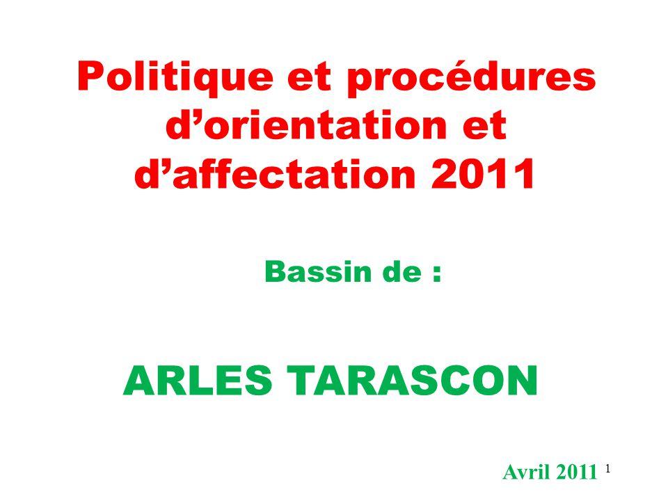Politique et procédures d'orientation et d'affectation 2011