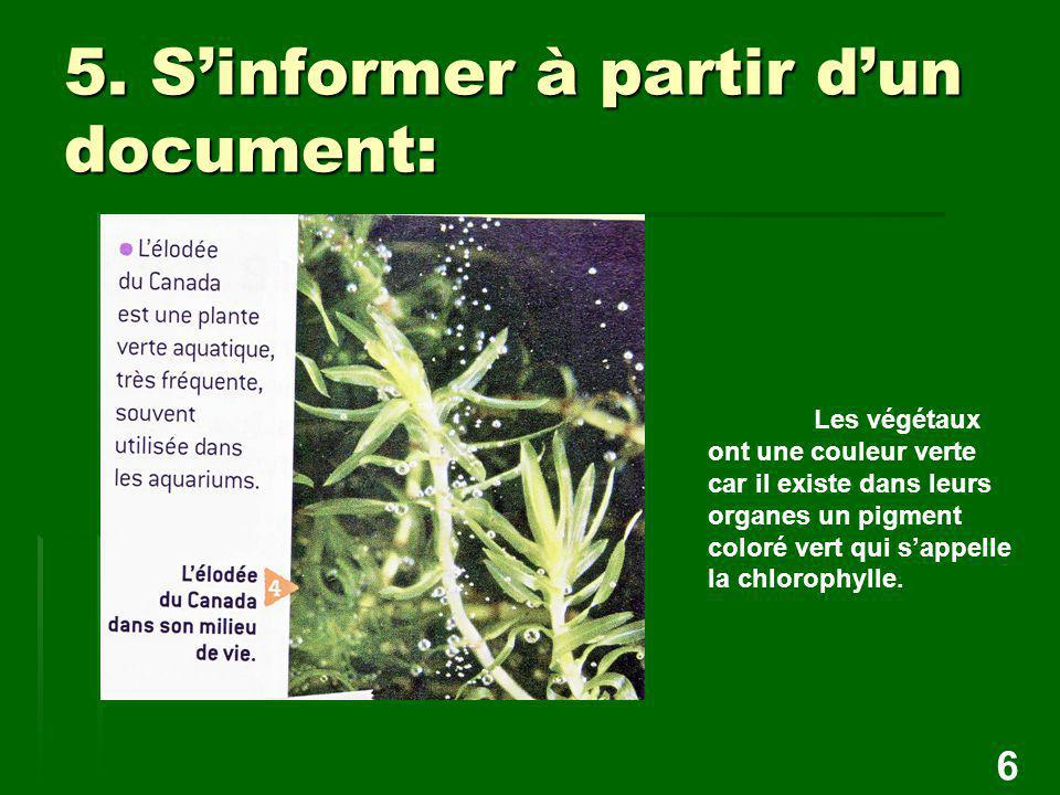5. S'informer à partir d'un document: