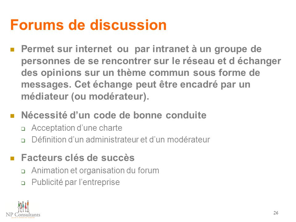 Forums de discussion